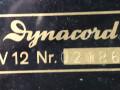 Dynacord KV12 1960-1962, typeplaatje met serienummer.