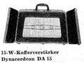 Dynacordeon DA15 vibrato 1954-1955 met 2 deurtjes en 6 buizen (EZ12, ECC83, 2x PCF82, 2x  EL34), front.
