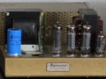 Dynacord LE15 mono eindversterker, 1x 15 watt 1958-1959, chassis met 4 buizen (EZ81, ECC83 en 2x EL84), front. Hoort bij VVE voorversterker.