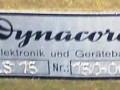 Dynacord stereo buizen eindversterker LS15, 2x 15 watt 1959-1960, chassis met 8-buizen (2x EZ81, 2x ECC83, 4x EL84), front met typeplaatje.