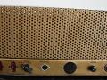 Dynacord stereo buizen eindversterker LS25, 2x  25 watt 1960-1961, back met 2 inputs en 3 outputs.