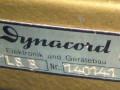 Dynacord stereo buizen LS8 eindversterker 2x 8 watt 1959-1960, typeplaatje.