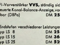 Dynacord stereo voorversterker VVS, uit advertentie in vakblad Funkschau 1958.