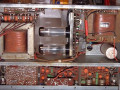 Dynacord Eminent I 80 watt hybride 1968-1974, buizen eindtrap met ECC81 en 2x EL34 vanaf boven.