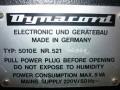 Dynacord 5010E transistor 9 bands equalizer 1975, typeplaatje met serienummer.