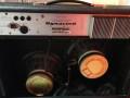 Dynacord Sprinter 40 watt transistor met tremolo en spring reverb 1974 met reverb en footswitch jacks, open back met 2 verschillende Zoll breedband speakers.  Afgeleid van Perfect.