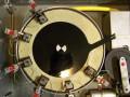 Dynacord Echocord Studio Disc Echo 1966-1968, neerwaarts gerichte  Woelke koppen, midden opnamekop en links 4 weergavekoppen WN14D, rechts wiskop LF6V.