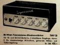 Dynacord TMV20 transistor mixversterker 1959 Hannover Messe, advertentie in F unkschau 1959.