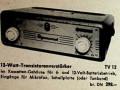 Dynacord TV12 transistor versterker 12 watt 1959. Hannover Messe advertentie in Funkschau 1959.