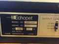 Echopet EP-100 made by Evans Japan, typeplaatje met serienummer.