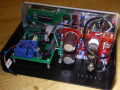 Echotapper Vintage Echo Unit met buizen, gebouwd door Philip Hawthorne Nothern Ireland, binnenwerk.