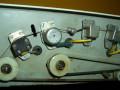 BEAG AKX 200 buizen echo 1970, made in Hongary, open back met tapeloop, vanaf links  wiskop, ronde opnamekop en 3 weergavekoppen.