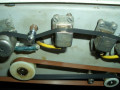 BEAG AKX 200 buizen echo 1970, made in Hongary, open back met tapeloop, vanaf links: ronde opnamekop en 3 weergavekoppen.
