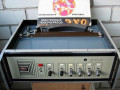 EXO 1 tape echo 1960, front vanaf open top met lange bandloop en manual.