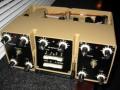 Esko 100 Analoge tape echo met multi effecten 1970, made by Urals Vector Company USSR, front met 2 kanalen. beige.  Designer: Alexander Korotaev