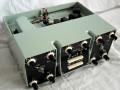 Esko 100 Analoge tape echo met multi effecten 1970, made by Urals Vector Company USSR, front met 2 kanalen, groen.