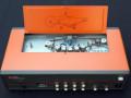 Tesla Studioecho (Tsjechië), derde type 1973, transistor. Echovolume en feedback zijn voor alle 4 de weergavekoppen individueel instelbaar. Motor vaste snelheid.