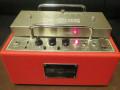 Fulltone TTE tube echo Custom Red, front met cartridge deksel.