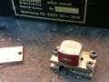 Schaller Echosound buizen,  Bogen Universal Kopf UK-100, opname- en weergavekop 200 ohm 550mH, op montageplaat.