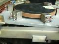 Soundimension schijfecho by Arbiter UK ca. 1966, zijkant schijf met 4 BSR MNI330 weergavekoppen.