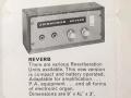 Advertentie van Jennings batterij Reverb unit RV1 uit 1971, prijs 22 pound.