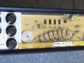 Frans home-made echotoestel van Jacques Brun uit Meazzi onderdelen. Met 7 weergavekoppen. Instelbaar in vele echopatronen met 7 slideswitches voor echo en 7 voor feedback. De 7e kop staat te ver weg voor zinvolle toepassing.