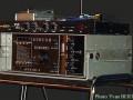 De echo en PB Box van Patrice Bastien (Guitar Express Paris). De Binson PE 603T is door Patrice eigenhandig omgebouwd naar volledig Meazzi/SEP Drum Echomatic 2 buizen circuit met 4 weergavekoppen. De PB Box emuleert en equalized naar de early sound.
