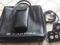 Farfisa preamp GS 42 R met tremolo en Spring reverb, originele tas en footswitch tremolo-reverb.