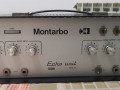 Montarbo 112 Silver Face schijfecho 1971-1977, made in Bologna Italy, front met 2 toggle switches, fast/ slow  en echo/ reverb.