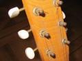Vroege Egmond  gitaar, logo op headstock.