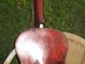 Egmond acoustic redburst jazzgitaar, een der eerste, back.