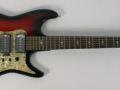 Airstream Rosetti 3 pu en tremolo met veilinglabel dat deze gitaar in 1968 is gebruikt door Paul McCartney bij een studio opname van het duo Drew and Dy.
