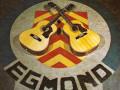 De vloer van de receptie in de Egmond fabriek in Best.