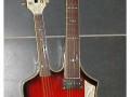 Egmond double neck met zowel een mandoline als gitaarhals, speciaal gebouwd voor John Lamers en Cees (Dingen) &  His Skyliners.