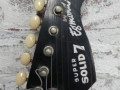 Flash versie Solid 7 met 3 pickups, type 3ES1 met halspen 1966,   headstock front rond model.