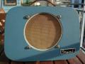 Egmond Royal V630,  6 watt buizenversterker, front blauw.