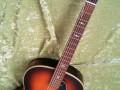 Miller Jazz Guitar Sunburst 1958, esdoorn bovenblad met cats eye klankgaten en beukenhouten hals, front.