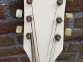 Wilson acoustische jazz gitaar JG 57-1 CA wit, headstock front.