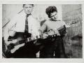 George Harrison rechts met zijn Rosetti 276, Egmond Toledo 105G.