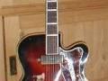 Combo gitaar, 2 pickups, made by Egmond, kop als ES-57.
