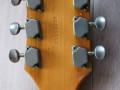 Frima ES gitaar met 3  pickups en tremolo, headstock back met ingeslagen serienummer.