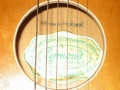 Marvel Sunburst Acoustic, Egmond label made in Holland.