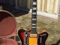 The Moltar Organ gitaar 1968, gebouwd door Jan Mol gitarist van The Ramblers en Jaap van Egmond,  front.