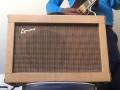 Egmond  V1020 10 watt  buizenversterker 1961, EZ81, ECC83 en EL84 buizen, Philips 8 inch 9710 speaker, tremolo, front.