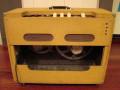 Egmond  V1831 18 watt  buizenversterker 1963 beige, half open back.