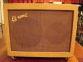 Egmond  V1831 18 watt  buizenversterker 1963 beige, formaat 62x48x25 cm. front