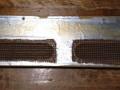 Egmond  V1831 18 watt  buizenversterker 1963 beige, achterkap binnenzijde.