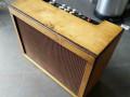 Egmond V1831 gitaarversterker 1963, multiplex cabinet ontdaan van originele beige tolex, front.