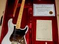 Fender 25th Anniversary gitaar van Bruce ca. 1980. Hank had eenzelfde.
