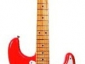 Seriemodel Fender Stratocaster Fiesta Red, maple toets met chrome hardware.